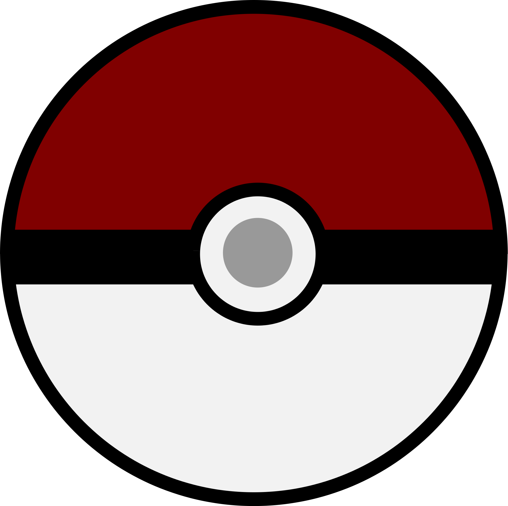 Pokeball clipart outline. Gallery svg drawing art
