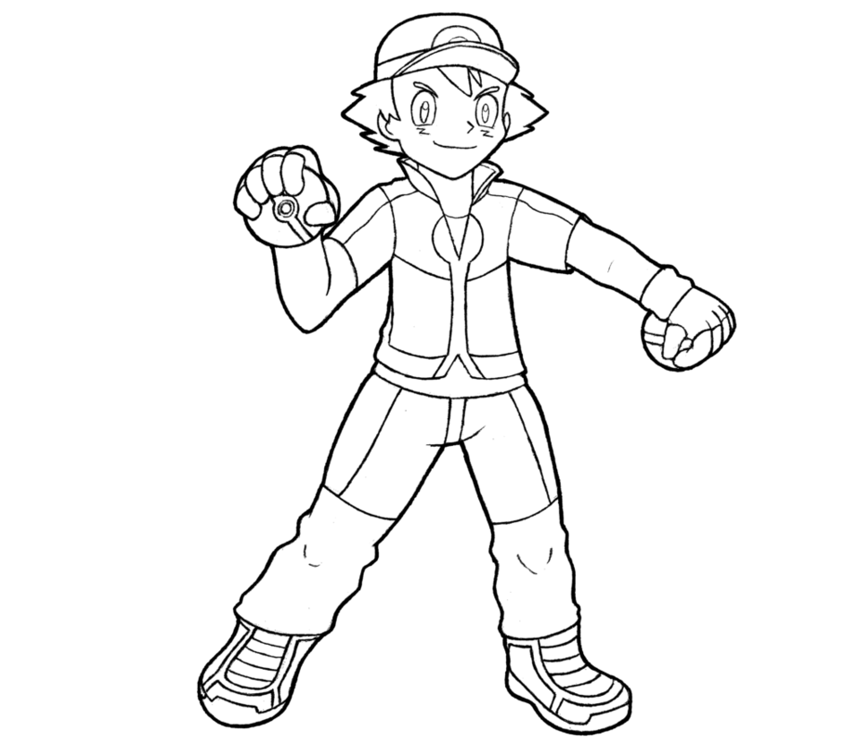Ash pokemon drawing at. Pokeball clipart outline