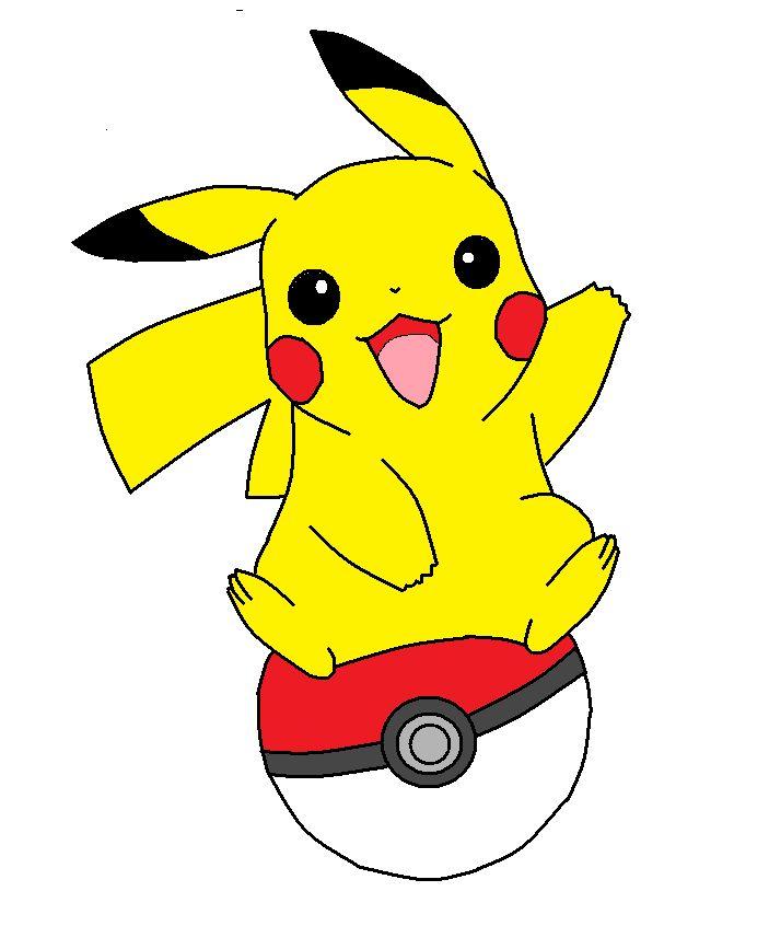 Pokeball clipart pikachu. Best poke mon drawing