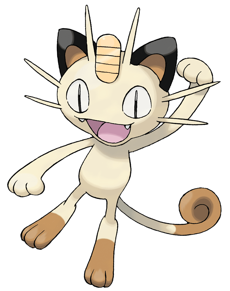 Pokeball clipart pixel pokemon. Meowth transparent png stickpng