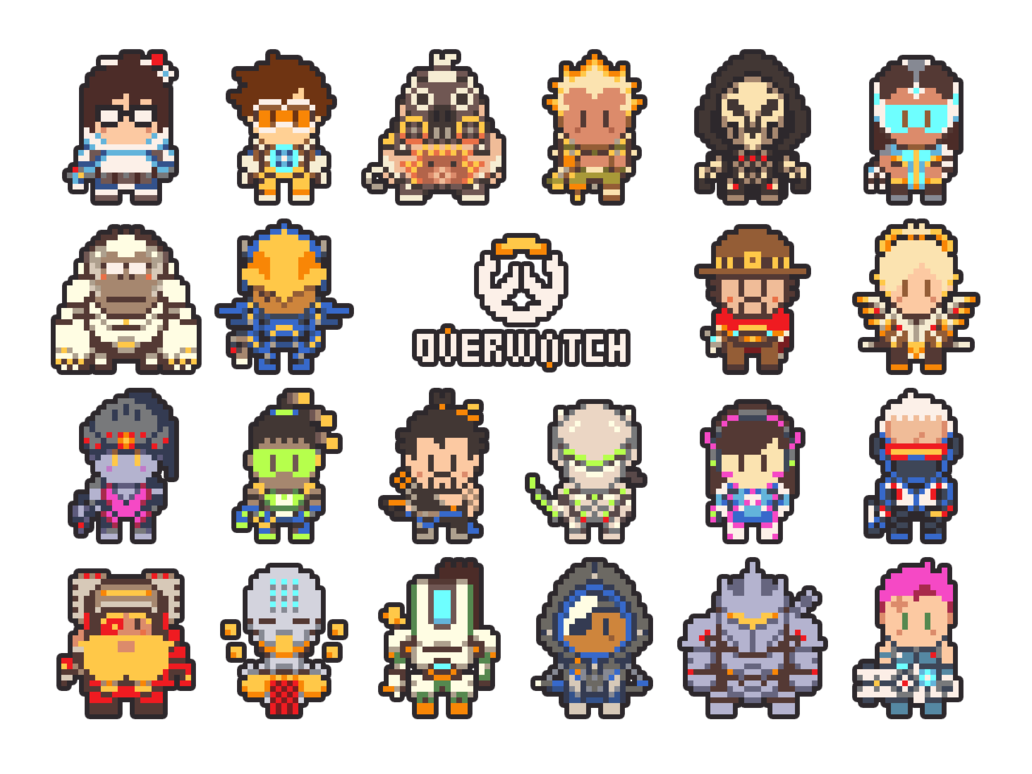 Overwatch pixel art by. Pokeball clipart pixelated