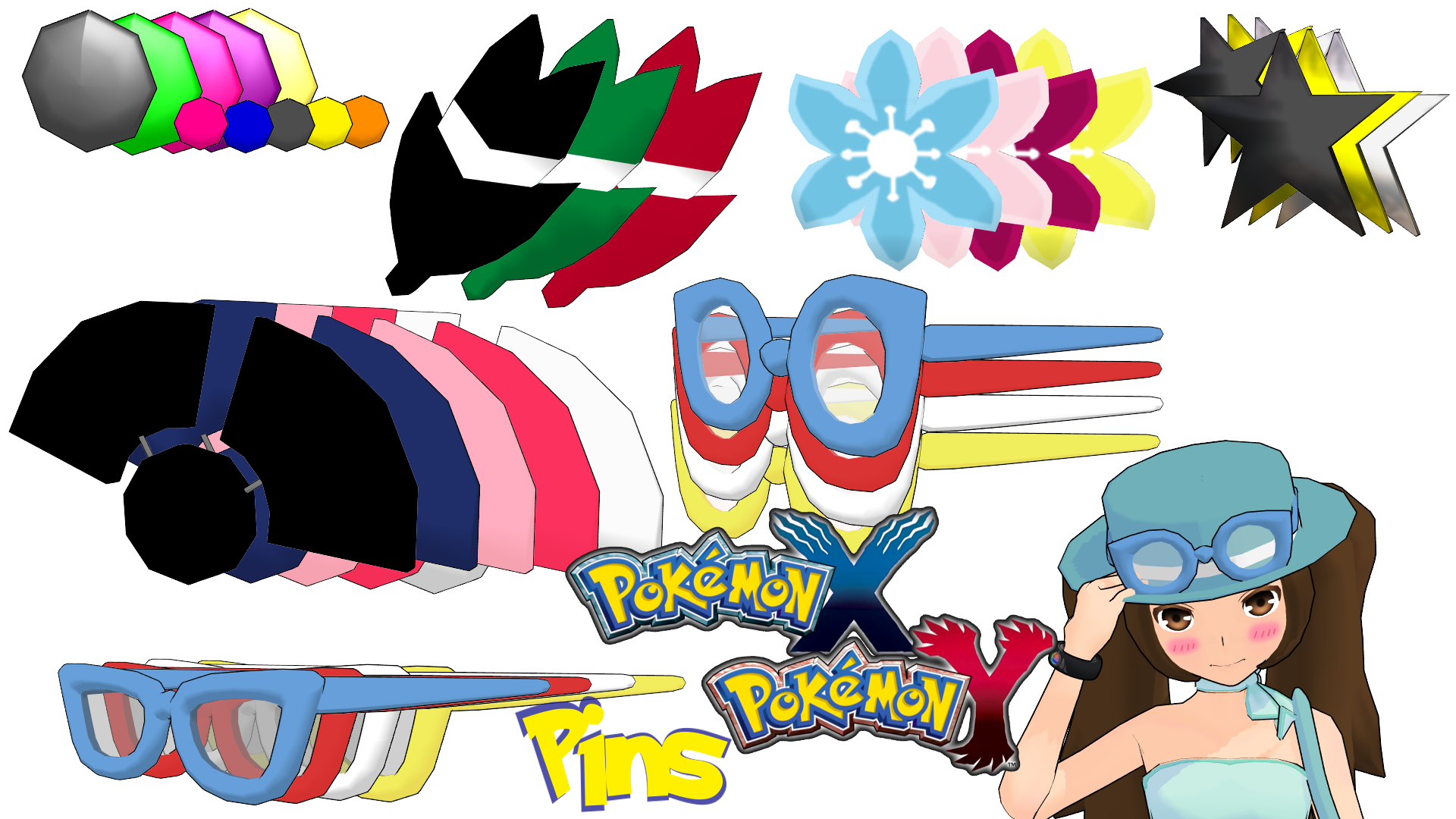 Pokeball clipart pokemon xy. Mmd hat pins dl