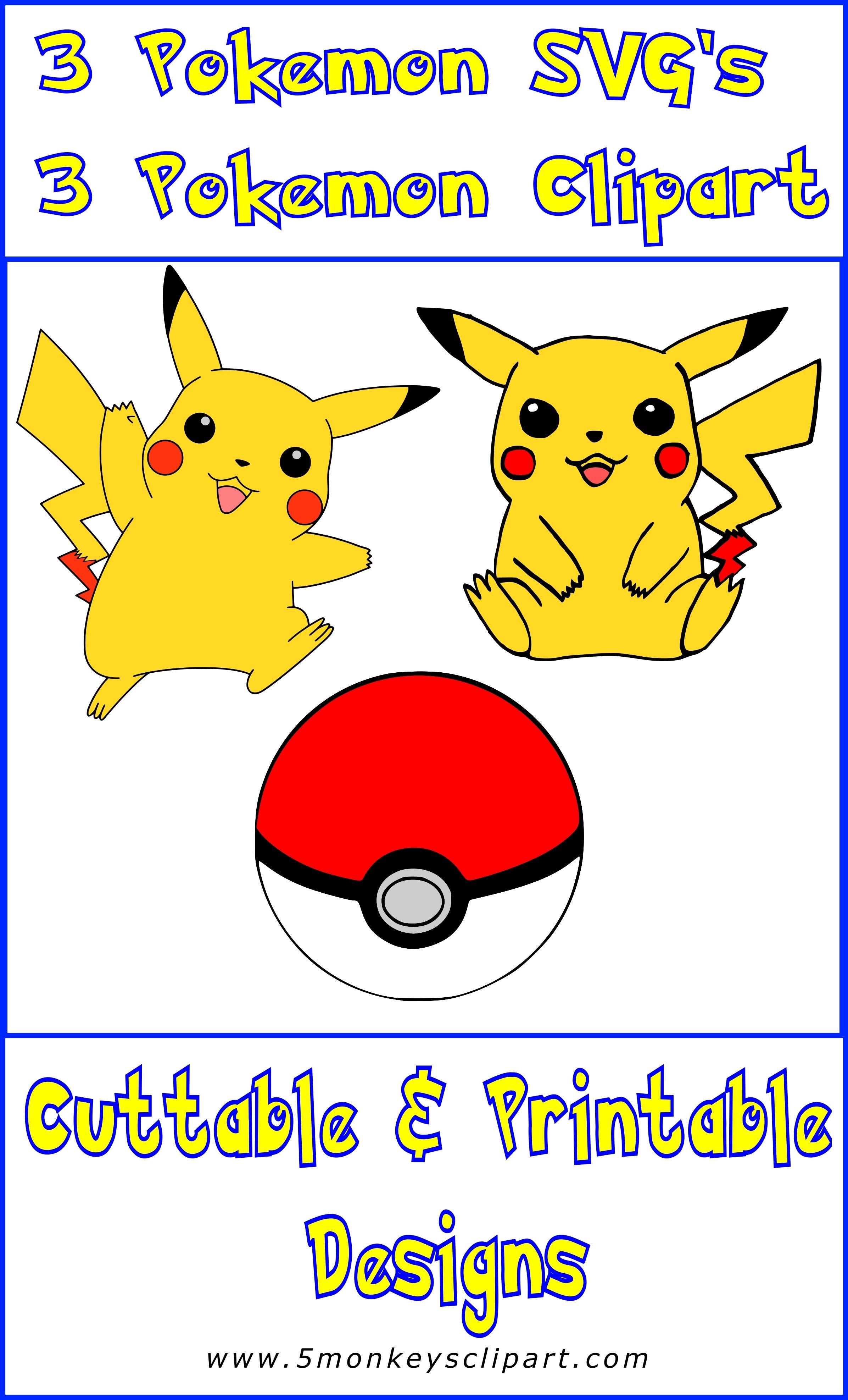 pokemon digital downloads. Pokeball clipart printable