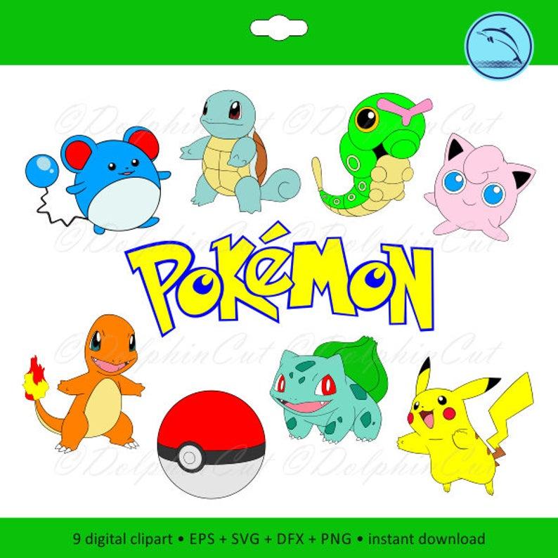 Digital pokemon bulbasaur pikachu. Pokeball clipart printable