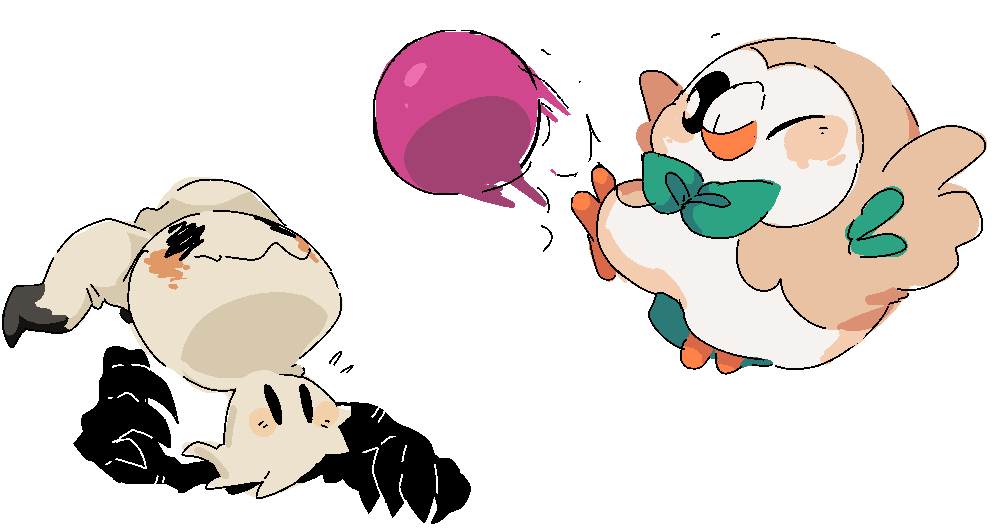 Pokeball clipart rowlet. Anonymous said playing with