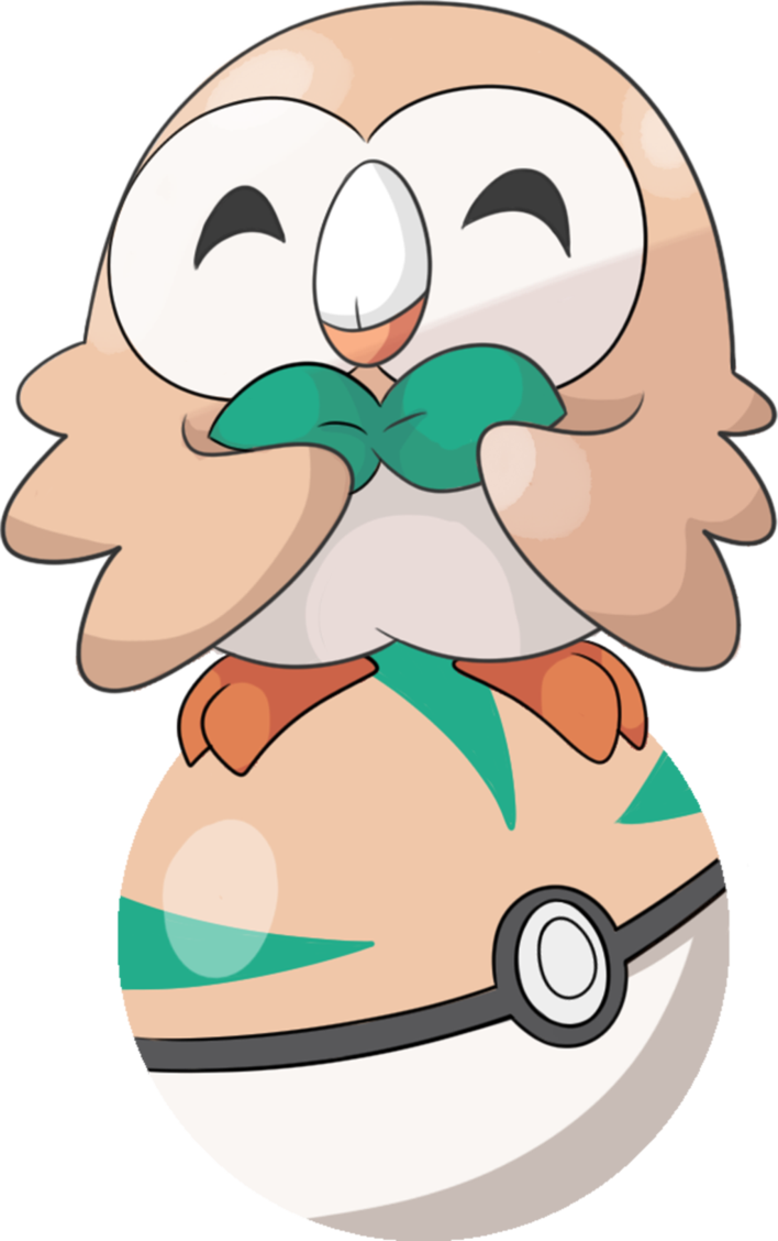 Pokeball clipart rowlet. S by uradoodlelover on