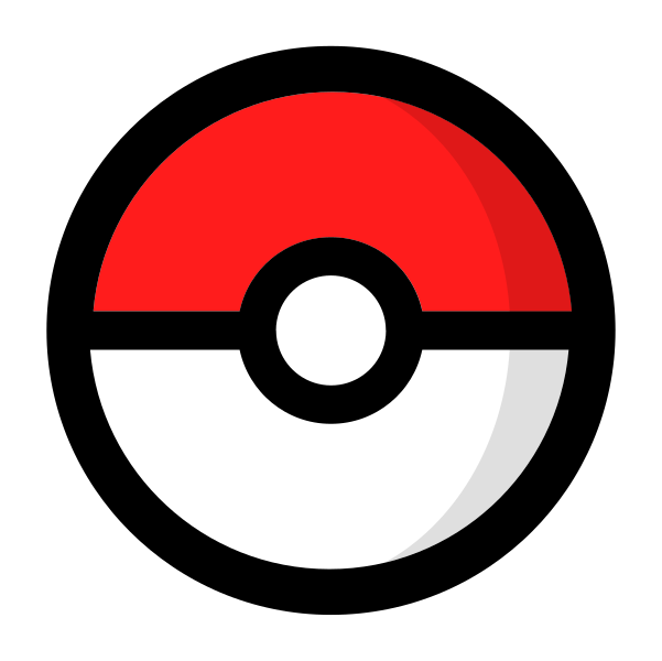 File pok ball icon. Pokeball clipart simple