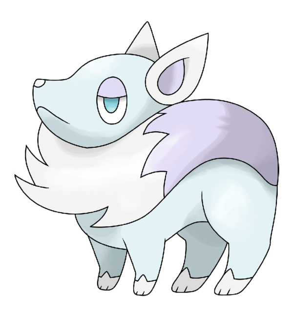 Pokeball clipart simplistic. Arctic fox by hourglasshero