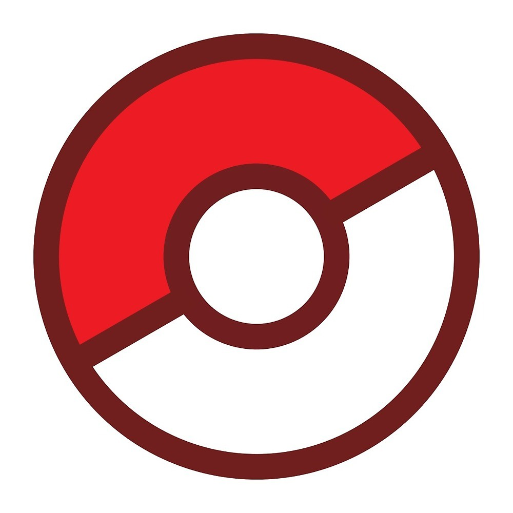 Pokeball clipart standard. Flat colors by geo