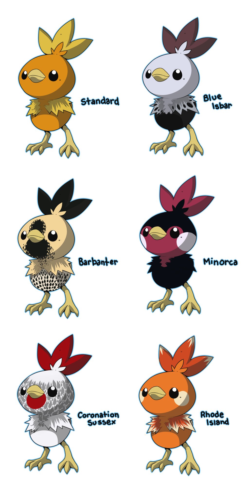 Pokeball clipart standard. Pkmn torchic variations by