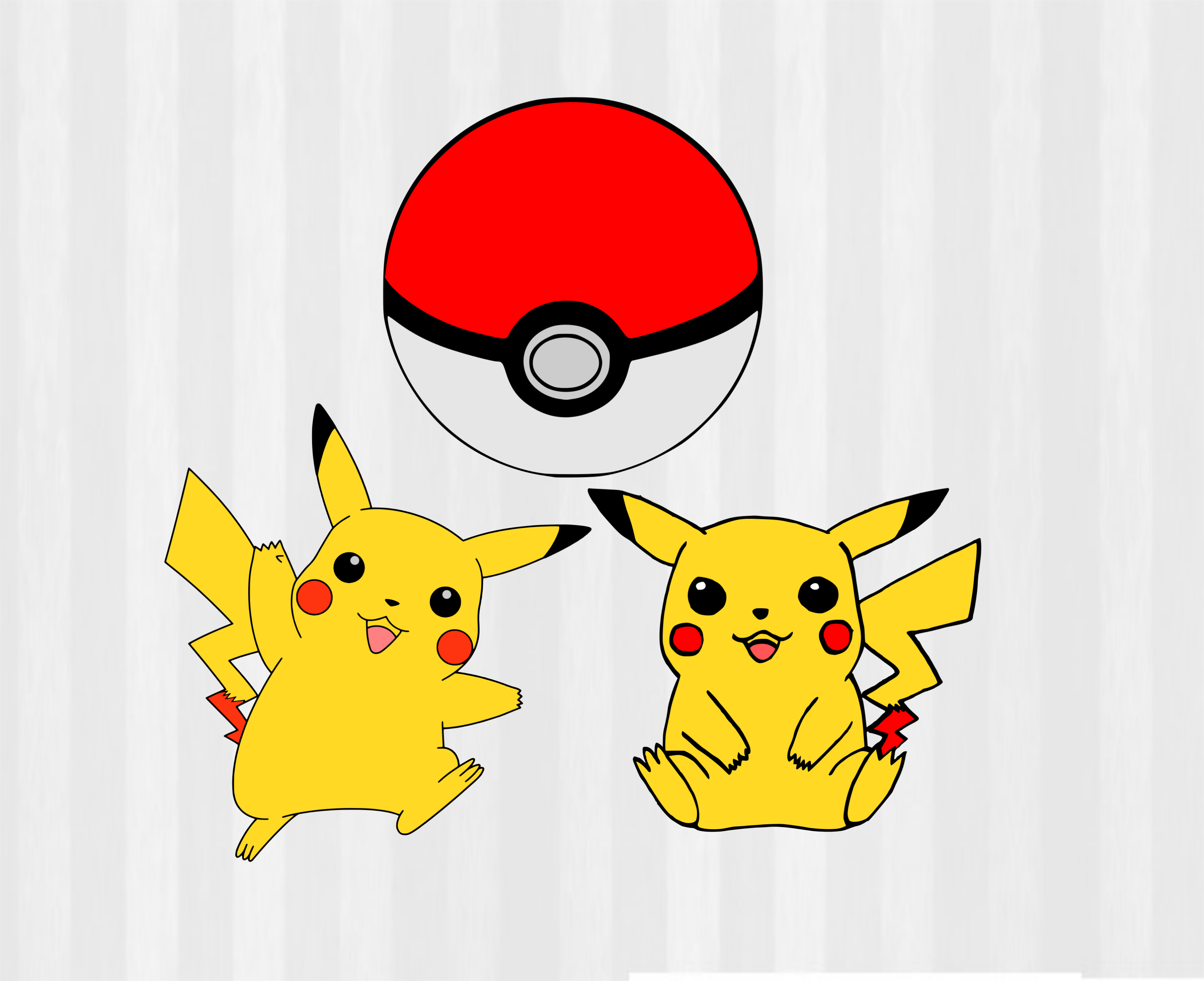 Pokeball clipart svg. Pokemon bundle and pikachu