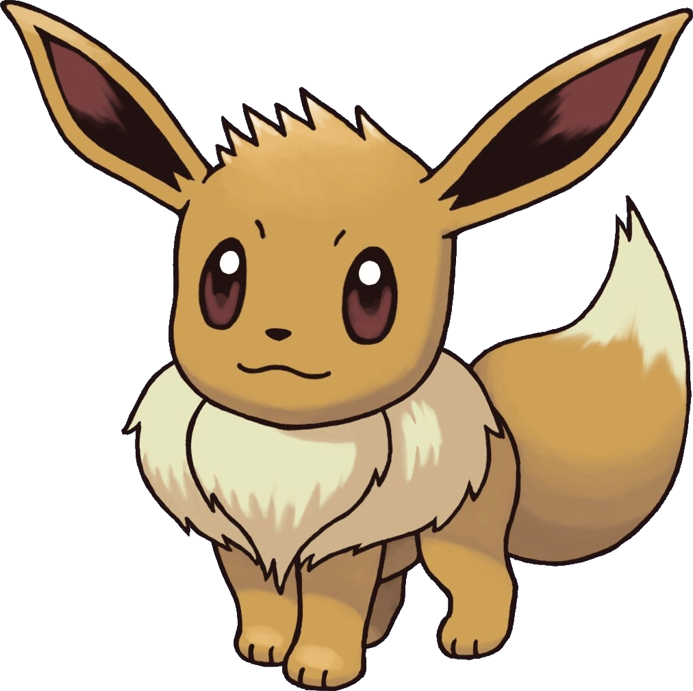 Eevee transparent png stickpng. Pokemon clipart eeveelutions