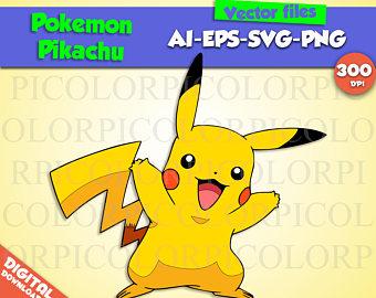Etsy pikachu svg partypokemon. Pokemon clipart