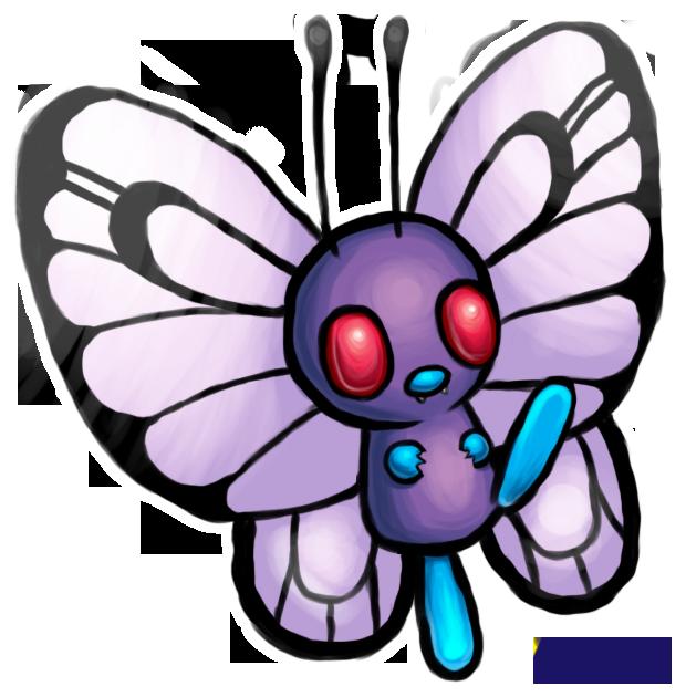 Pokemon clipart butterfree. By kattakin on deviantart