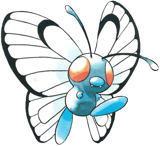 used confusion and. Pokemon clipart butterfree