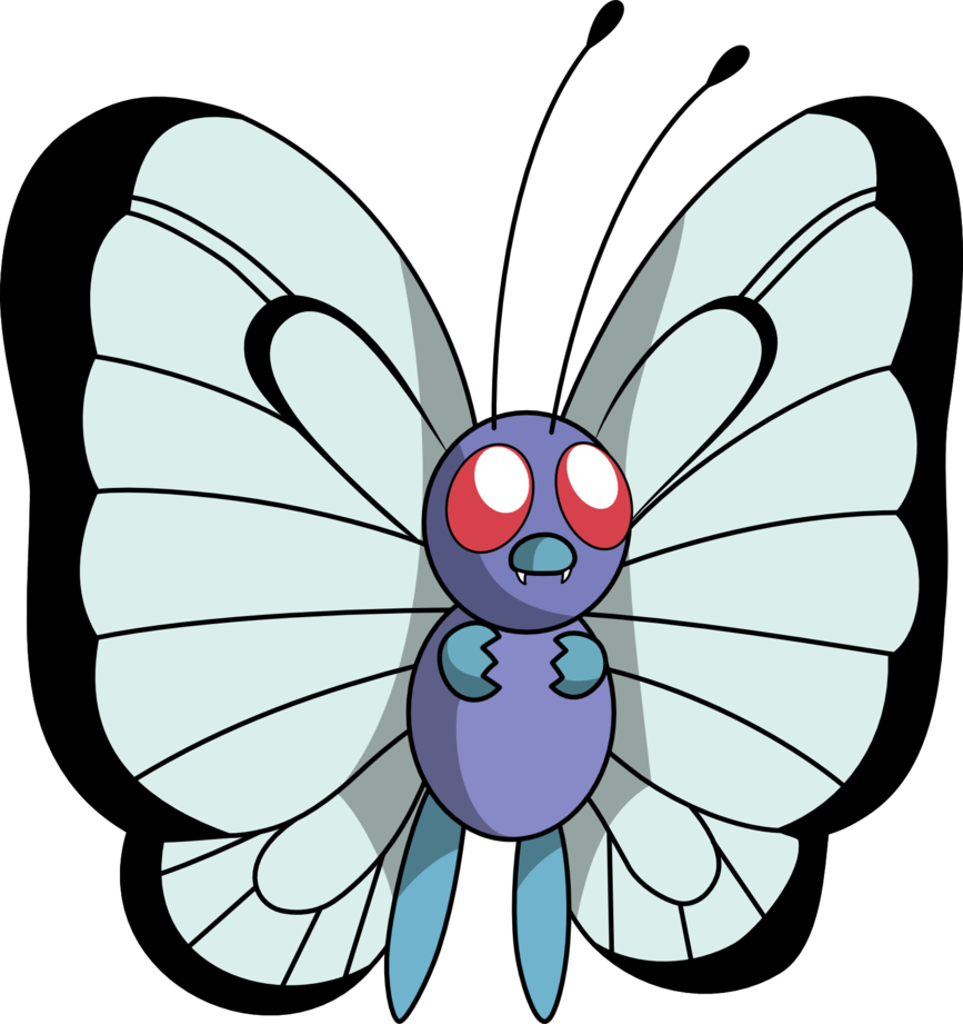 By mighty on deviantart. Pokemon clipart butterfree