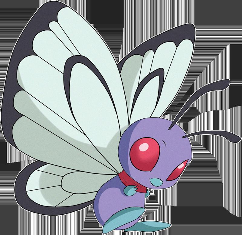 Pokemon clipart butterfree. Pok dex stats moves