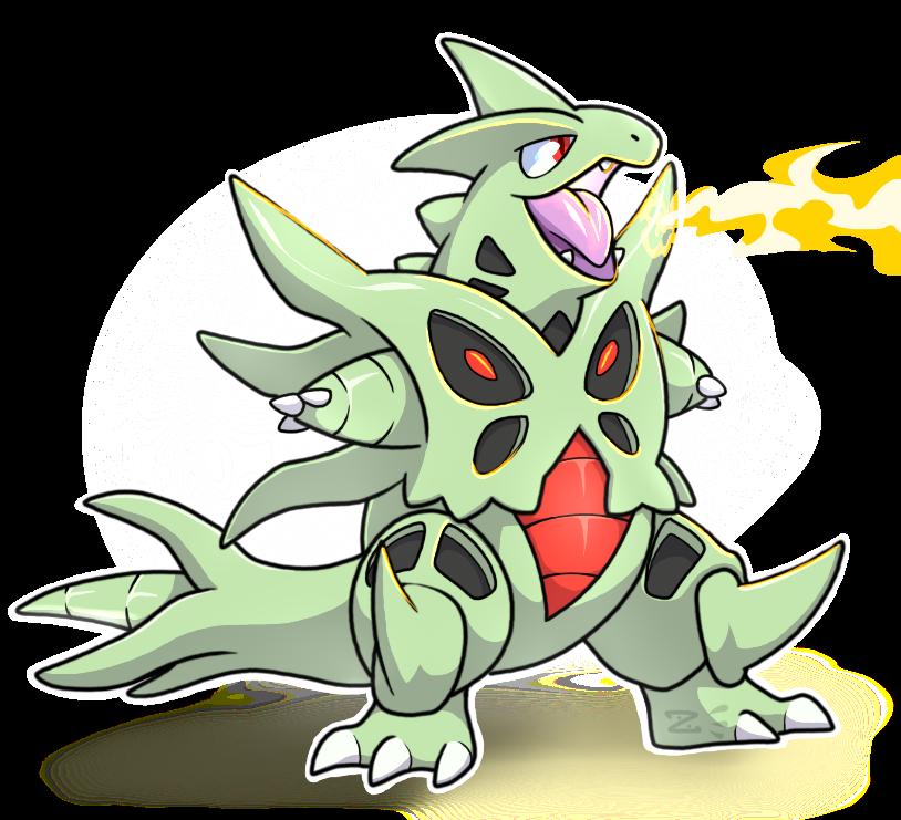 Mega tyranitar by zerbert. Pokemon clipart chibi