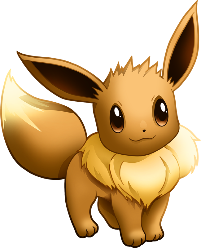 Shiny eevee pok dex. Pokemon clipart eeveelutions