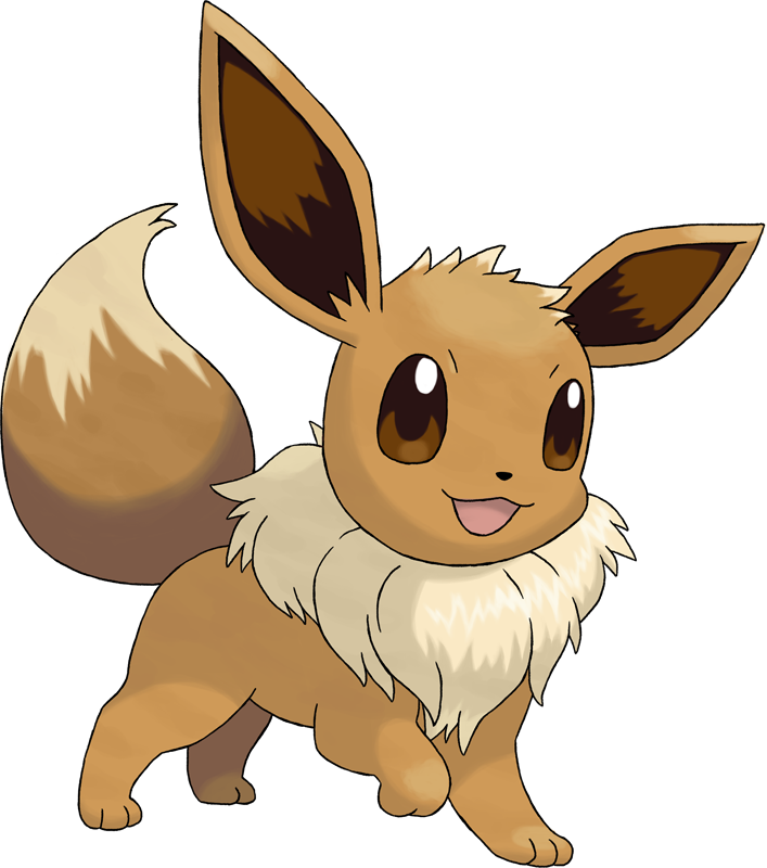 Pokemon clipart eeveelutions. Eevee pok dex stats
