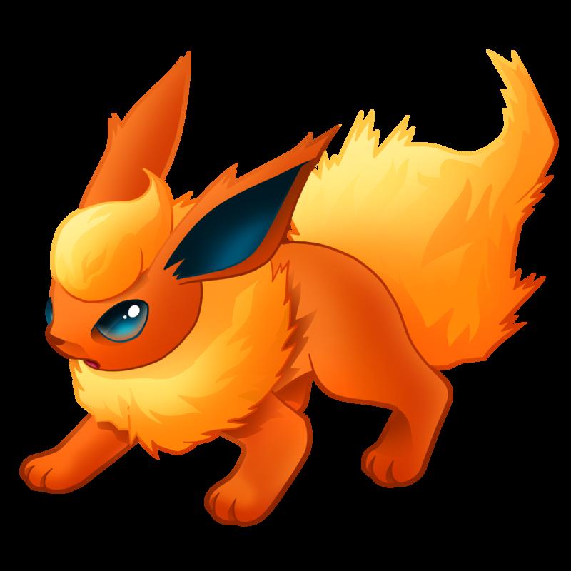 Flareon pok mon know. Pokemon clipart fox