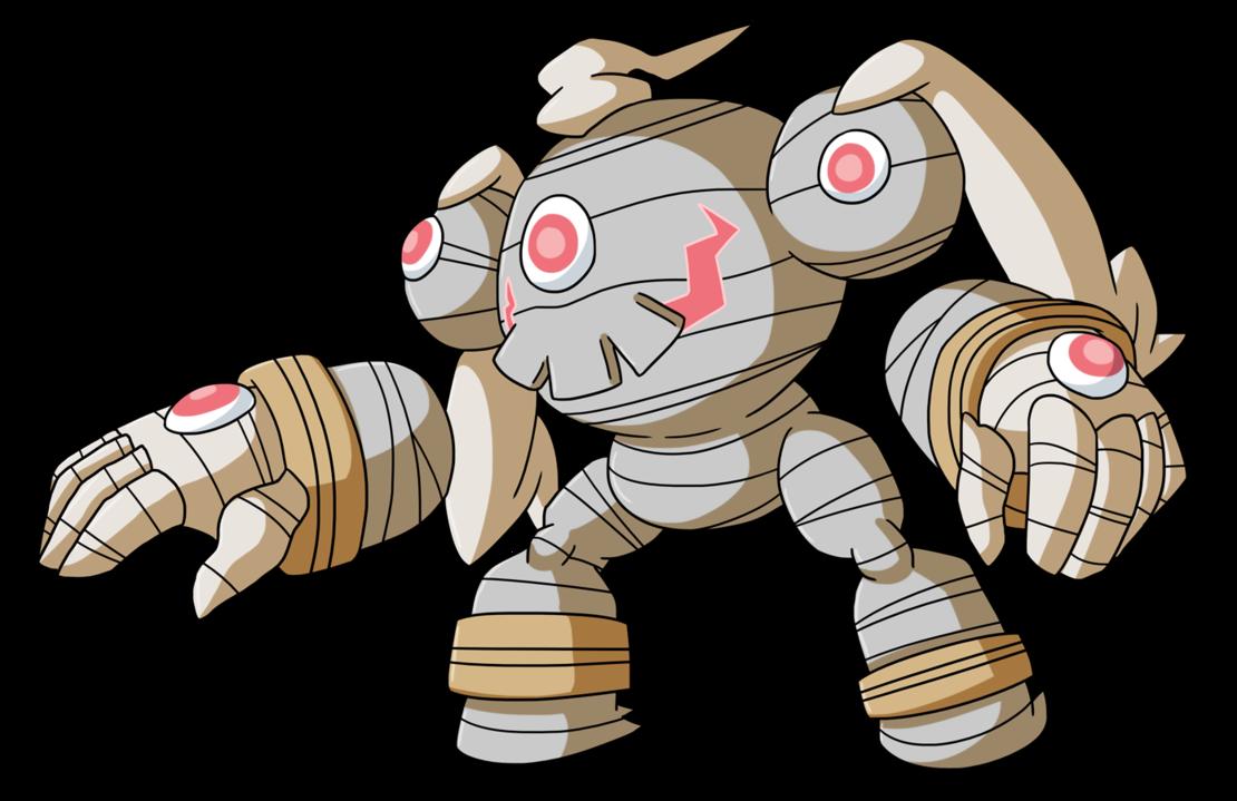 Dusclops and golurk fusion. Pokemon clipart krabby