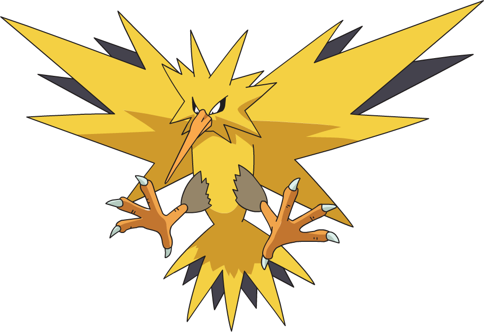 Pokemon clipart legendary. Image zapdos ag anime