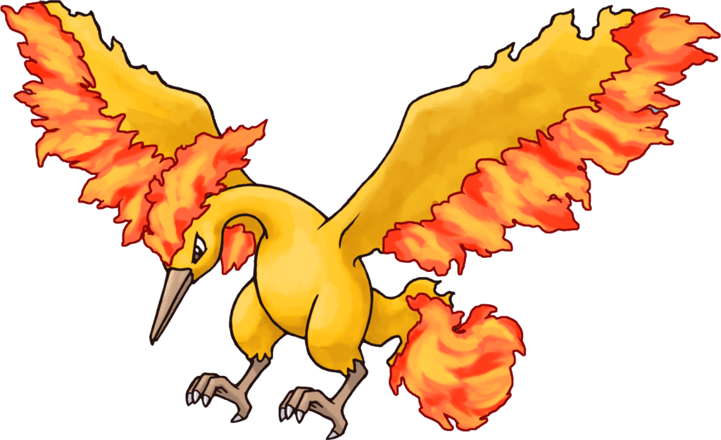 Transparent png stickpng. Pokemon clipart moltres