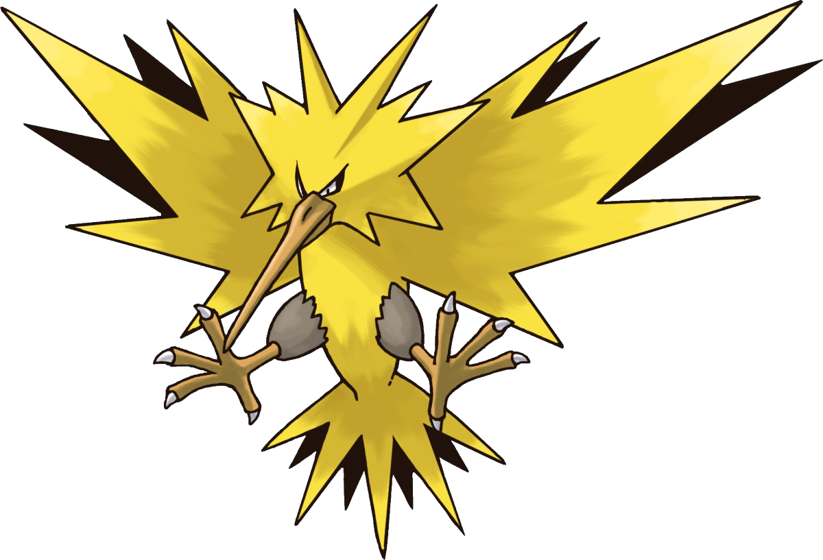 Pokemon clipart moltres. The legendary zapdos officially
