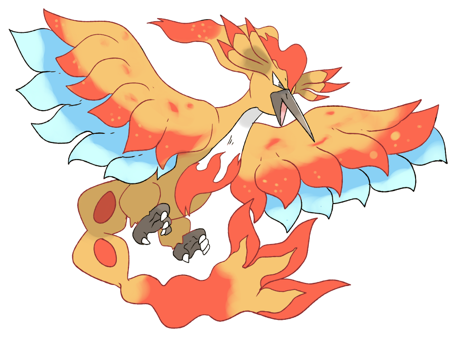 Pokemon clipart moltres. Mega by phatmon on