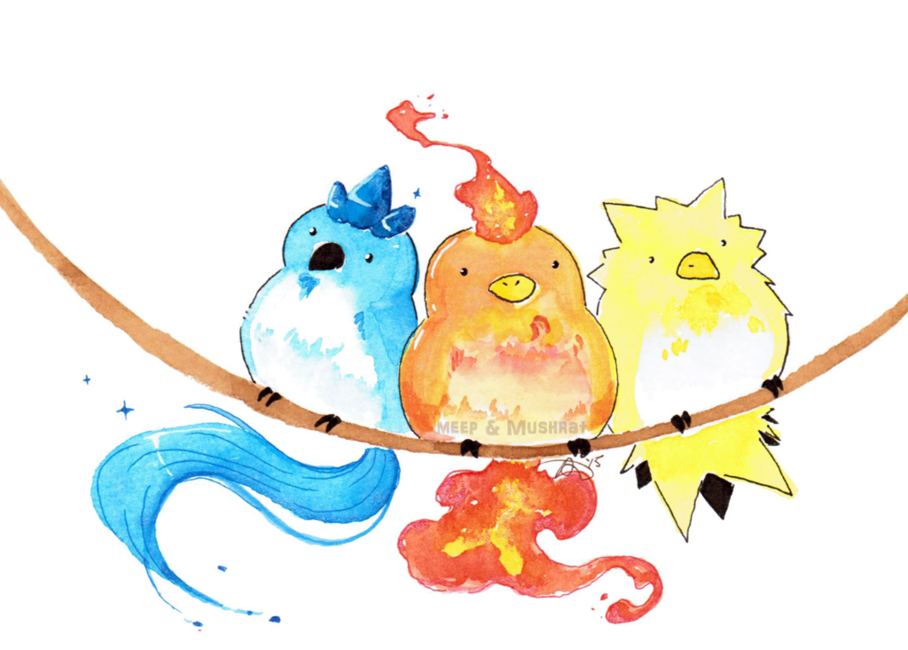Articuno and zapdos by. Pokemon clipart moltres