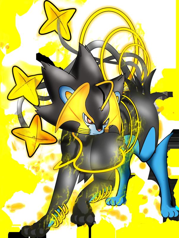 Luxray . Pokemon clipart outline