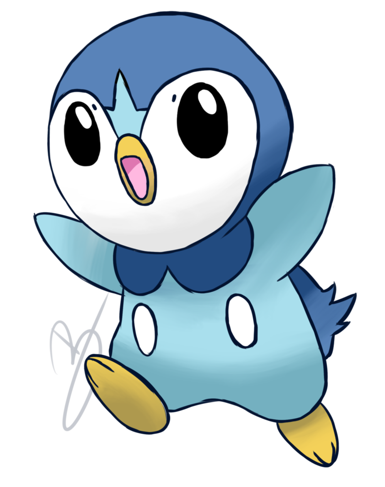 Pokemon clipart piplup. By i am baka
