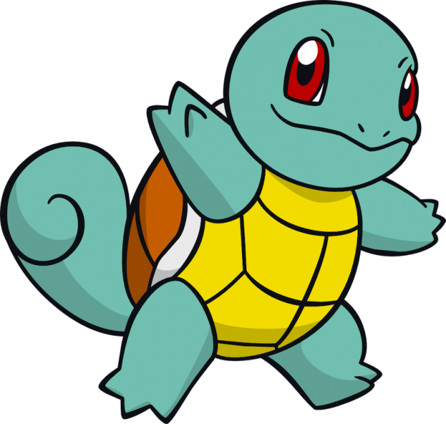 Pokemon clipart poster. Squirtle from the official