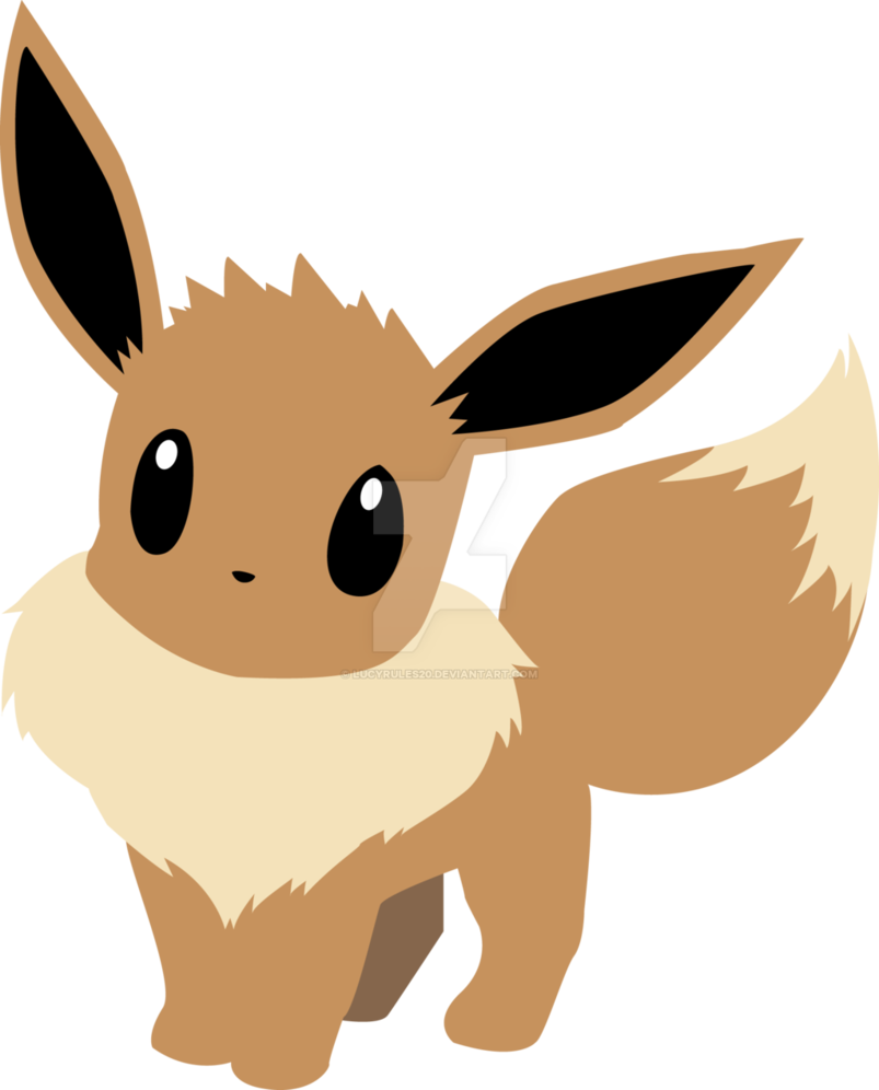 Pokemon clipart poster. Eevee silhouette at getdrawings