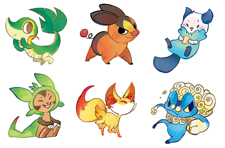 Pokemon clipart sticker. Stickers set by applewaffles