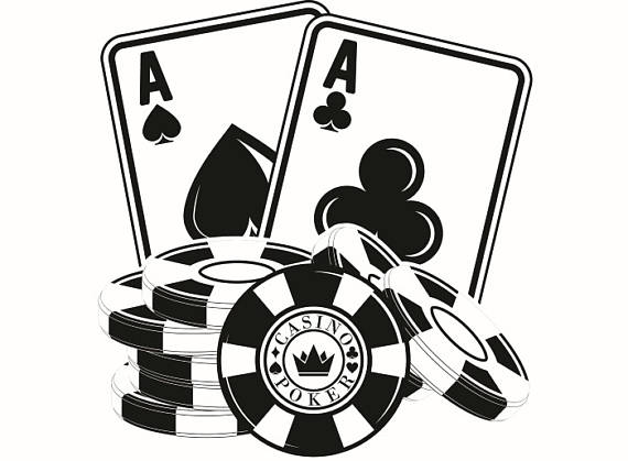 Poker clipart. Logo chip ace texas