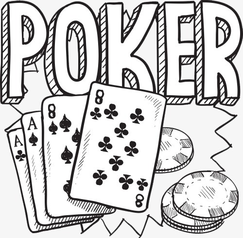 And chips card gambling. Poker clipart