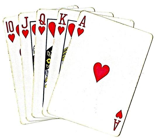 Poker clipart. Hand