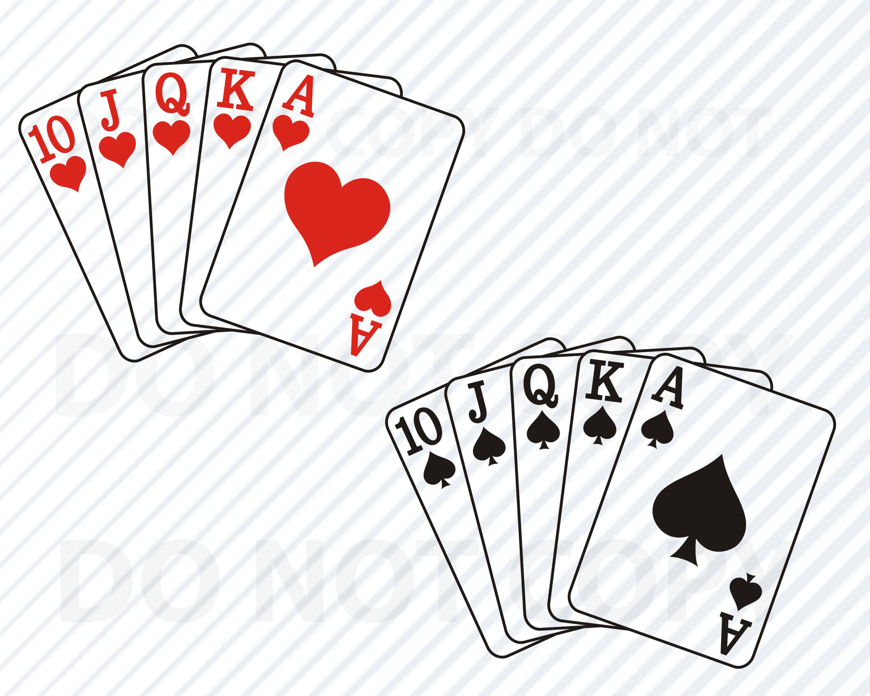 Cards vector images file. Poker clipart svg