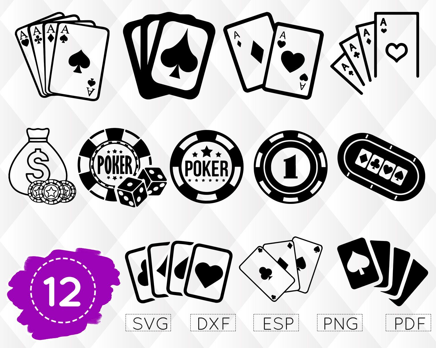 Poker clipart svg. Playing cards casino las