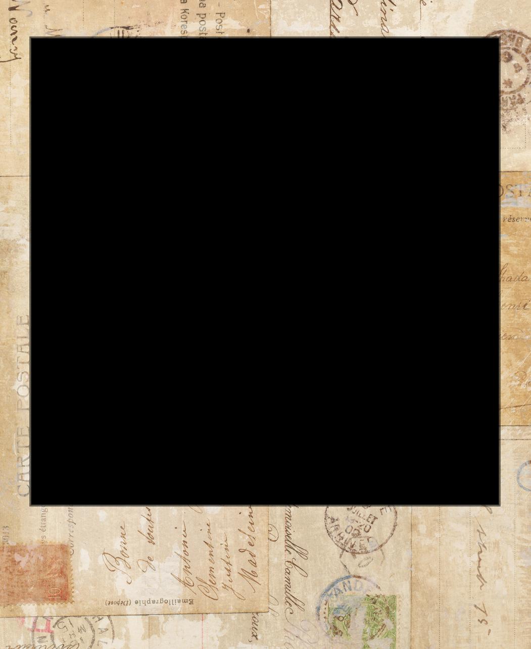 Picture frame vintage template. Polaroid border png