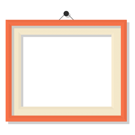 Polaroid border png. Landscape picture frame transparent