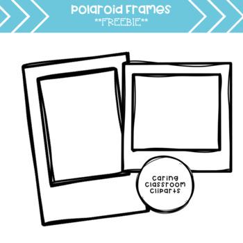 Polaroid clipart. Frames freebie by caring