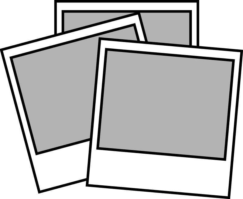 Polaroid clipart black and white. Portal