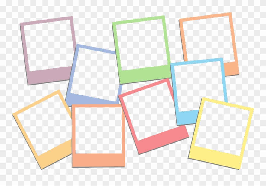 Polaroid clipart colourful. Colorful cute frame instax