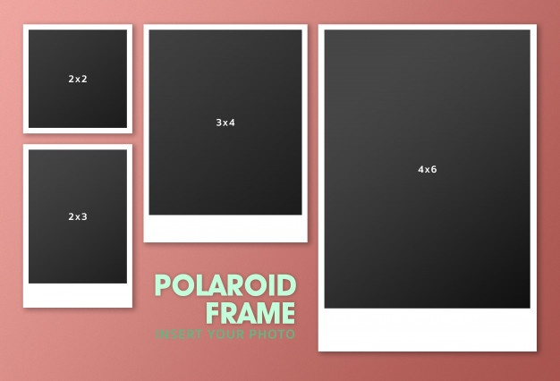 Polaroid clipart outline. Vectors photos and psd