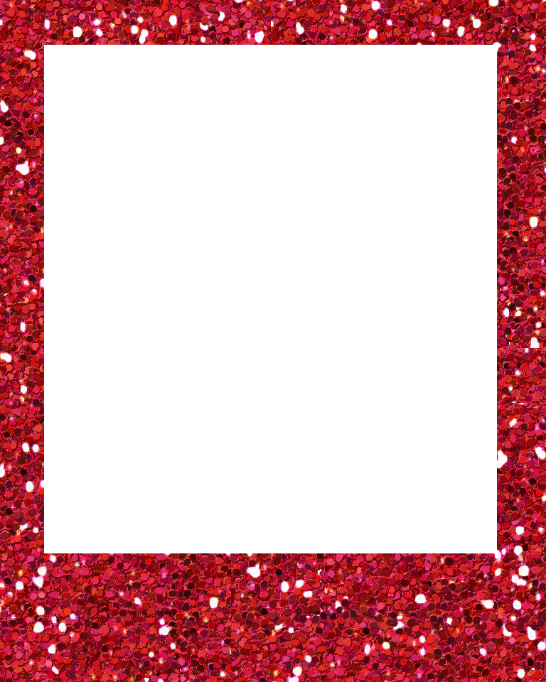 Polaroid photo frame png. Red glitter sweetly scraped