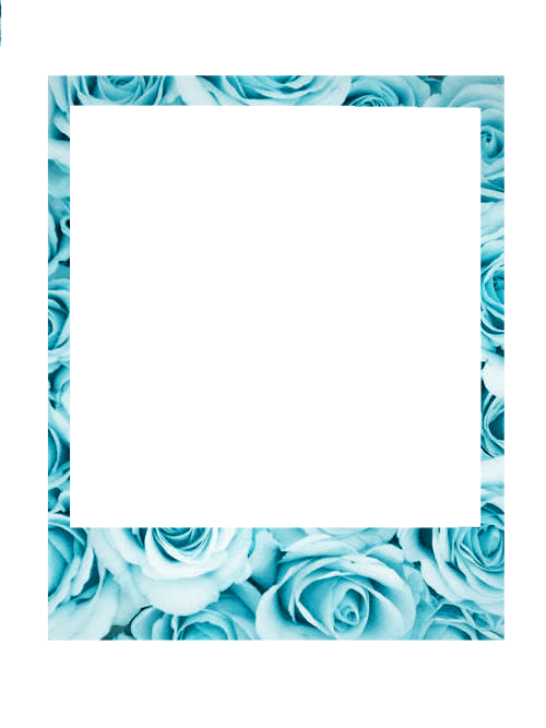 Polaroid clipart transparent tumblr. Borde marco palommzz blue