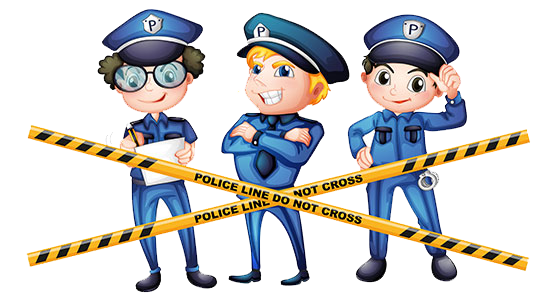 Officer cartoon illustration . Police clipart crime